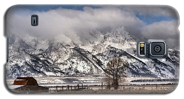 Galaxy S5 Case featuring the photograph Teton Mormon Homestead Panorama by Adam Jewell