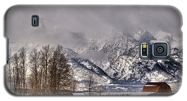 Galaxy S5 Case featuring the photograph Teton Mormon Row Panorama by Adam Jewell