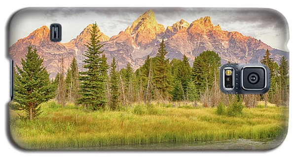 Galaxy S5 Case featuring the photograph Teton Morning by Mary Hone