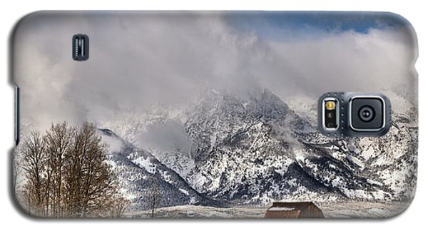 Galaxy S5 Case featuring the photograph Teton Mountains Over Mormon Row by Adam Jewell