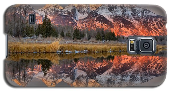 Teton Mountains Sunrise Rainbow Galaxy S5 Case
