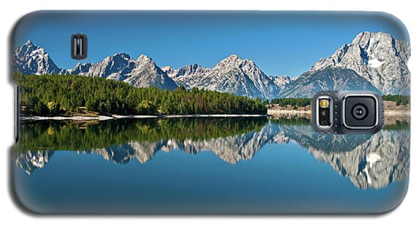 Galaxy S5 Case featuring the photograph Teton Reflections II by Gary Lengyel