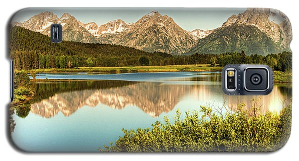 Galaxy S5 Case featuring the photograph Teton Reflections by Rebecca Hiatt