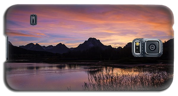 Galaxy S5 Case featuring the photograph Teton Sunset by Gary Lengyel