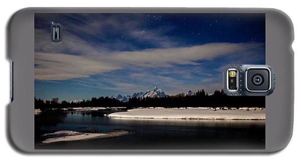 Tetons At Moonlight Galaxy S5 Case