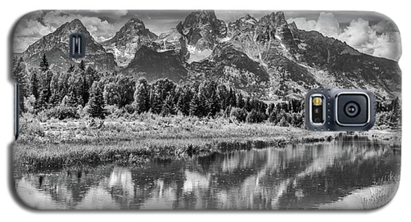 Tetons In Black And White Galaxy S5 Case by Mary Hone