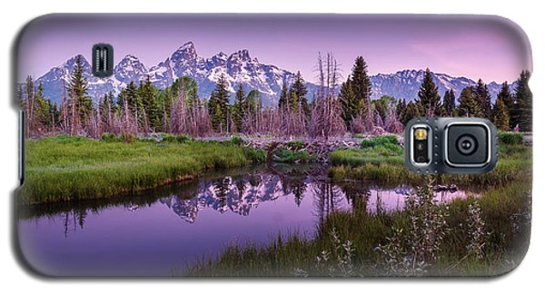 Tetons In Pink Galaxy S5 Case by Mary Angelini