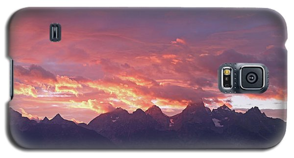 Tetons Sunset Galaxy S5 Case