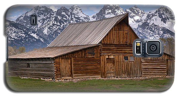 Tetons Towering Over The Moulton Barn Galaxy S5 Case by Adam Jewell