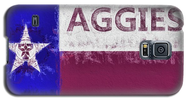 Texas Aggies State Flag Galaxy S5 Case by JC Findley