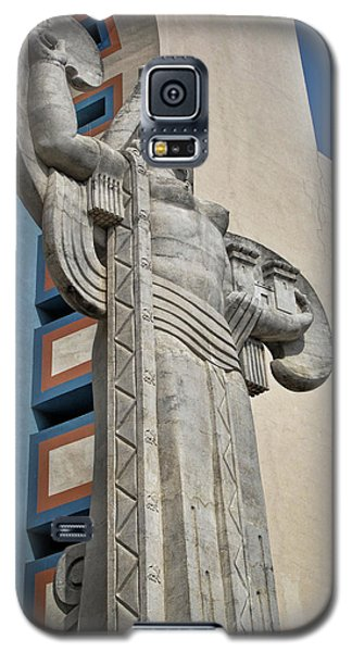 Galaxy S5 Case featuring the photograph Texas Art Deco Sculpture by David and Carol Kelly