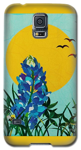 Galaxy S5 Case featuring the mixed media Texas Bluebonnet by Diane Miller