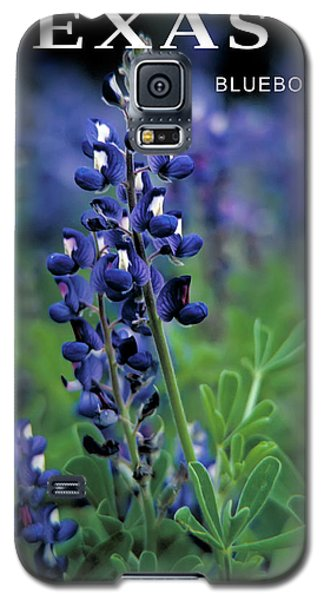 Galaxy S5 Case featuring the mixed media Texas Bluebonnet State Flower by Daniel Hagerman