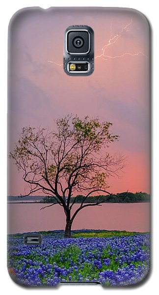 Texas Bluebonnets And Lightning Galaxy S5 Case
