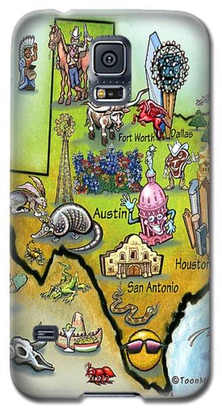 Texas Cartoon Map Galaxy S5 Case