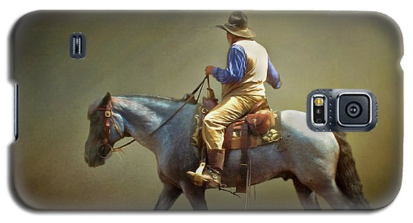 Galaxy S5 Case featuring the photograph Texas Cowboy And His Horse by David and Carol Kelly