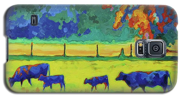 Texas Cows And Calves At Sunset Painting T Bertram Poole Galaxy S5 Case by Thomas Bertram POOLE