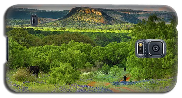 Galaxy S5 Case featuring the photograph Texas Hill Country Ranch Road by Darryl Dalton