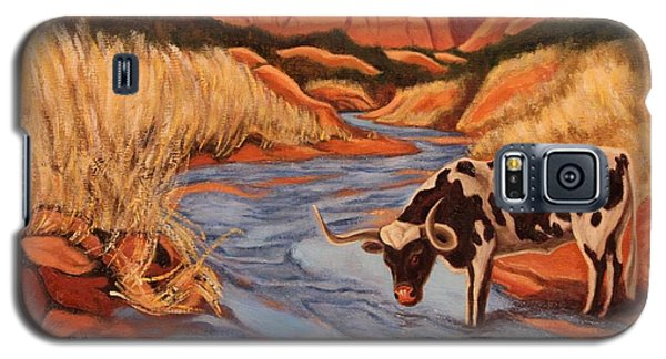 Texas Longhorn In Palo Duro Canyon Galaxy S5 Case