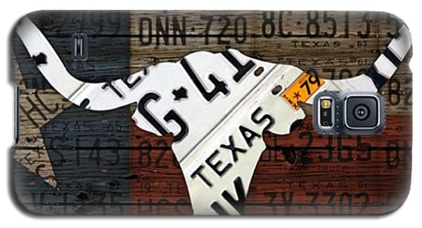 Universities Galaxy S5 Case - #texas #longhorn #recycled #vintage by Design Turnpike