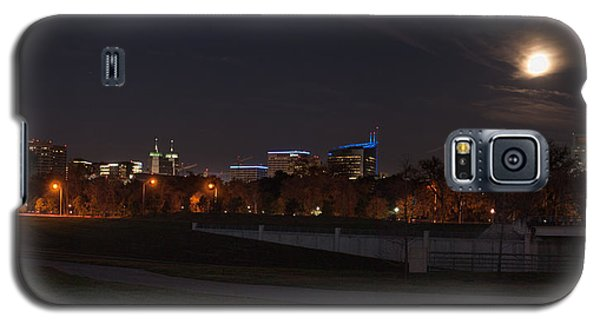 Galaxy S5 Case featuring the photograph Texas Medical Center Moonset by Joshua House