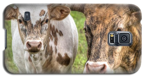 Longhorn Mother And Son Galaxy S5 Case