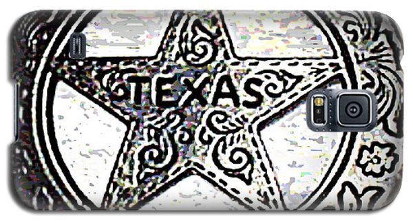 Galaxy S5 Case featuring the photograph Texas Ranger Badge by George Pedro