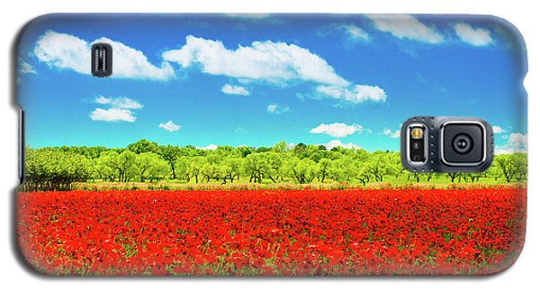 Texas Red Poppies Galaxy S5 Case