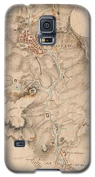 Texas Revolution Santa Anna 1835 Map For The Battle Of San Jacinto  Galaxy S5 Case by Peter Gumaer Ogden Collection