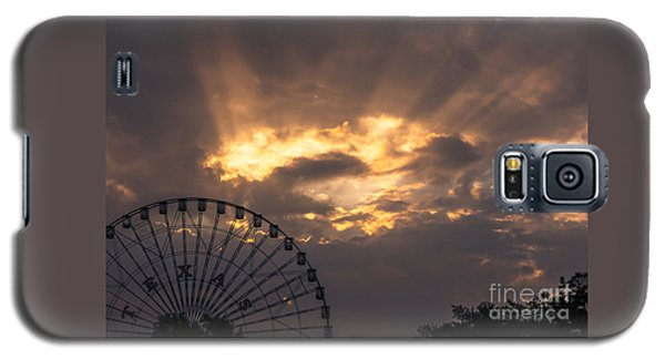 Texas Star Ferris Wheel And Sun Rays Galaxy S5 Case