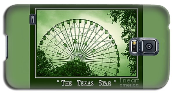 Texas Star In Green Galaxy S5 Case