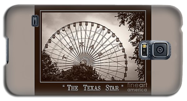Texas Star In Sepia Galaxy S5 Case