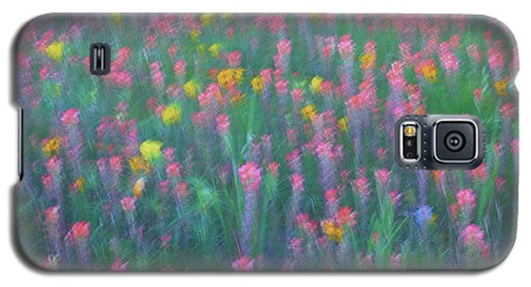 Texas Wildflowers Abstract Galaxy S5 Case