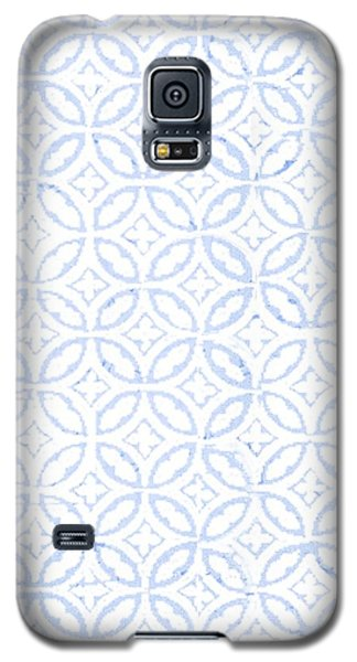 Watercolor Galaxy S5 Case - Textured Blue Diamond And Oval Pattern by Gillham Studios