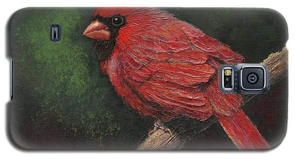 Textured Cardinal Galaxy S5 Case by Janet King