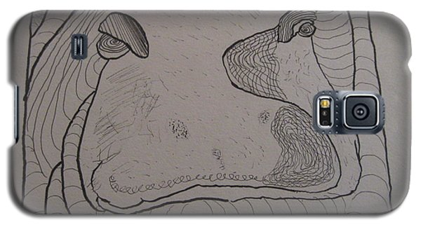 Textured Hippo Galaxy S5 Case