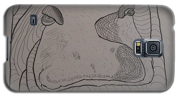 Textured Hippo Galaxy S5 Case by AJ Brown