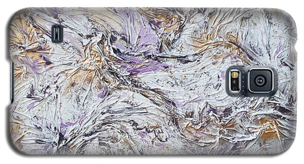 Textured Purple And Gold Galaxy S5 Case by Angela Stout