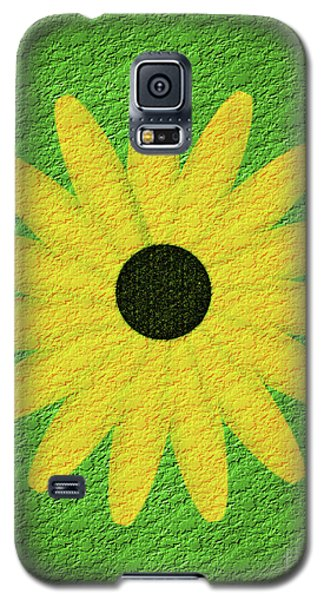 Galaxy S5 Case featuring the digital art Textured Yellow Daisy by Smilin Eyes  Treasures