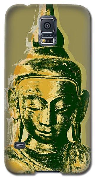 Galaxy S5 Case featuring the digital art Thai Buddha #4 Pop Art Warhol Style Print.  by Jean luc Comperat