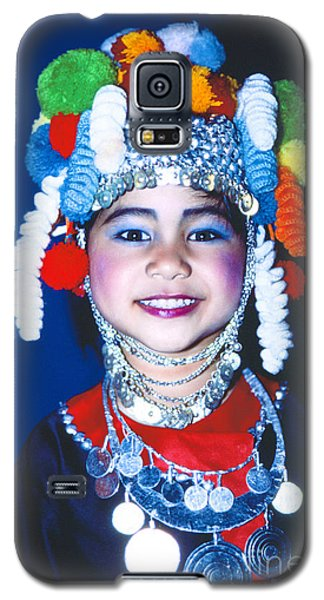 Galaxy S5 Case featuring the photograph Thai Girl Traditionally Dressed by Heiko Koehrer-Wagner
