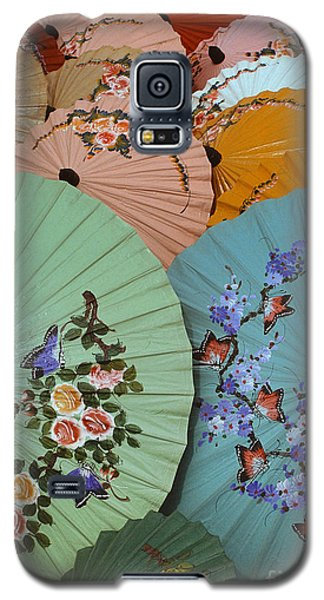 Thailand Parasols Abstract - Blue Thai  Parasols Galaxy S5 Case