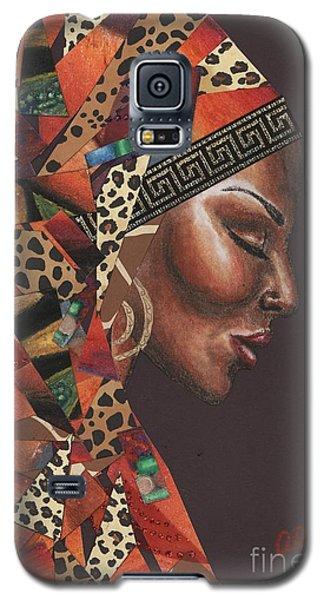 Galaxy S5 Case featuring the mixed media Thank You Angela by Alga Washington