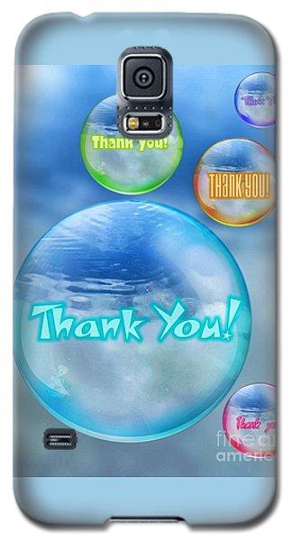 Thank You Bubbles Galaxy S5 Case