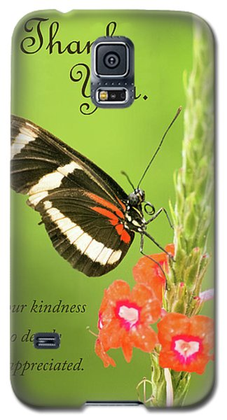 Thank You - Butterfly Galaxy S5 Case