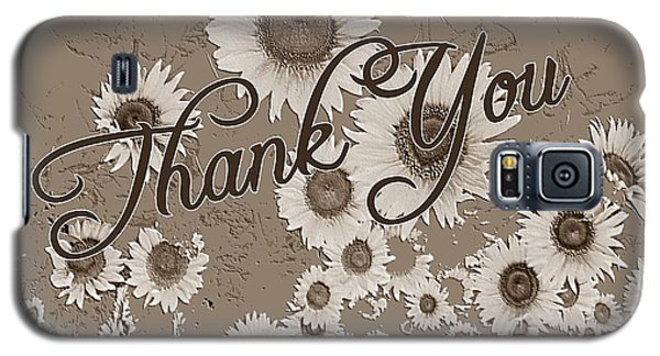 Thank You Card Daisies Galaxy S5 Case