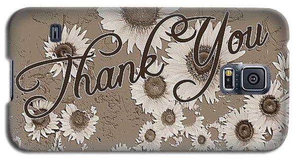 Thank You Card Daisies Galaxy S5 Case