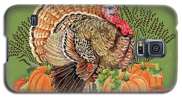 Galaxy S5 Case featuring the painting Thanksgiving-b by Jean Plout