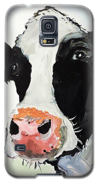 Galaxy S5 Case featuring the painting That Look That Says... by Tom Riggs