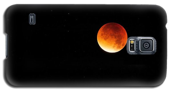 Galaxy S5 Case featuring the photograph The 2015 Blood Moon  by Gary Bridger